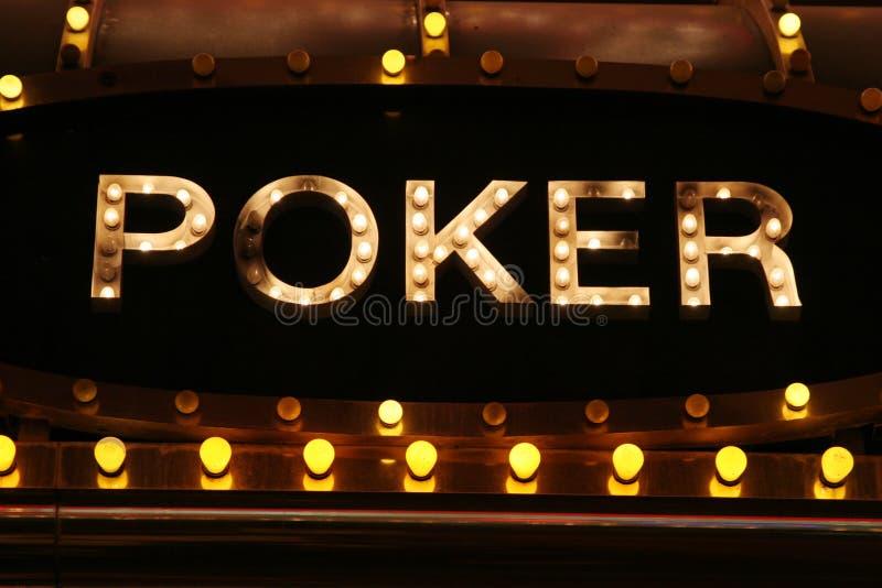 Неоновые света покера стоковое фото rf