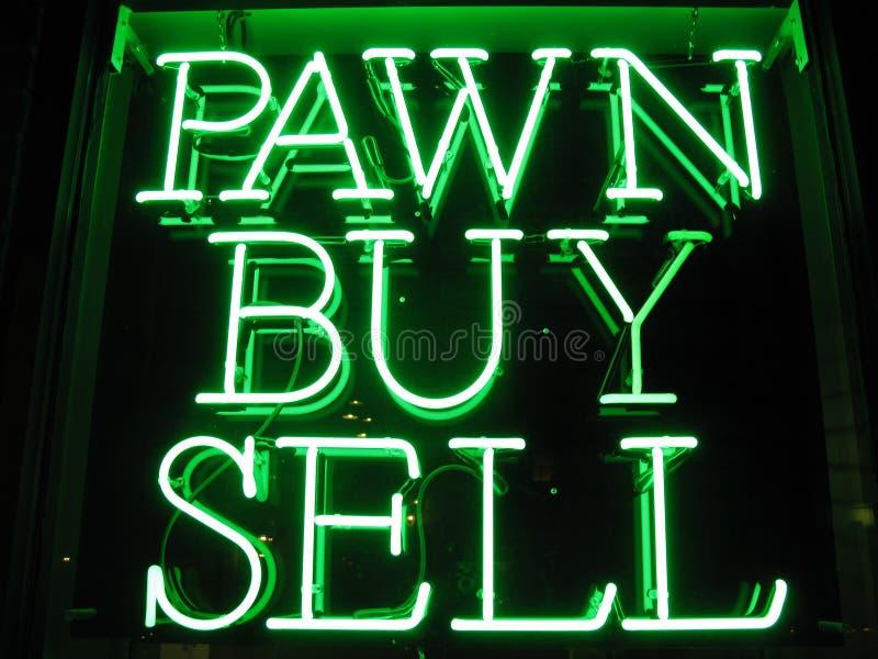 неоновый знак магазина пешки стоковое фото rf