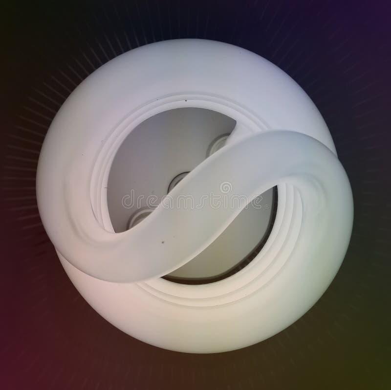 Неоновый конец шарика вверх стоковая фотография rf