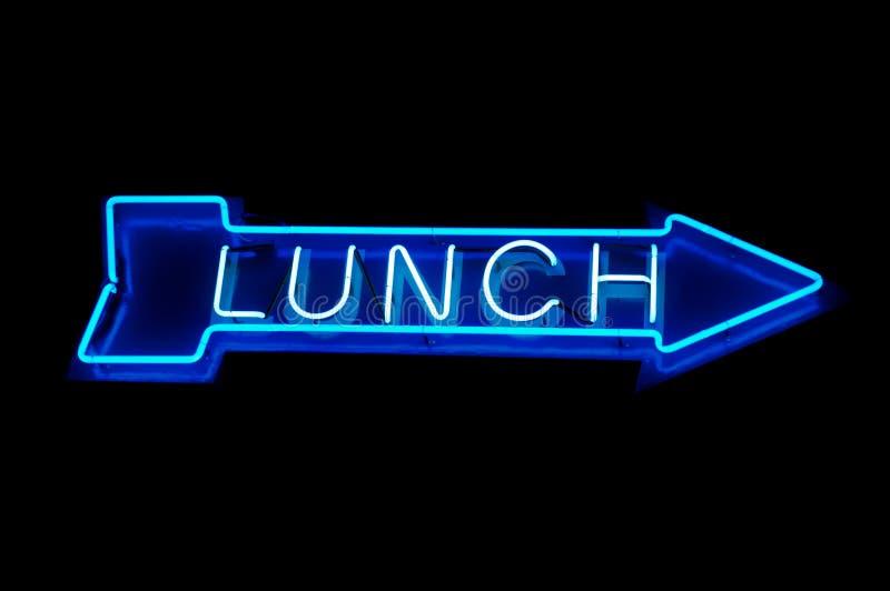 Неоновый обед иллюстрация вектора