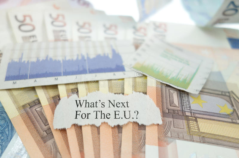 Неопределенность еврозоны стоковое изображение rf