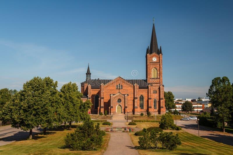 Нео-готическая церковь лютеранина в Loviisa стоковая фотография rf