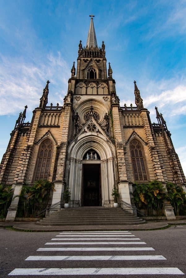 Нео готический собор стиля стоковое фото rf