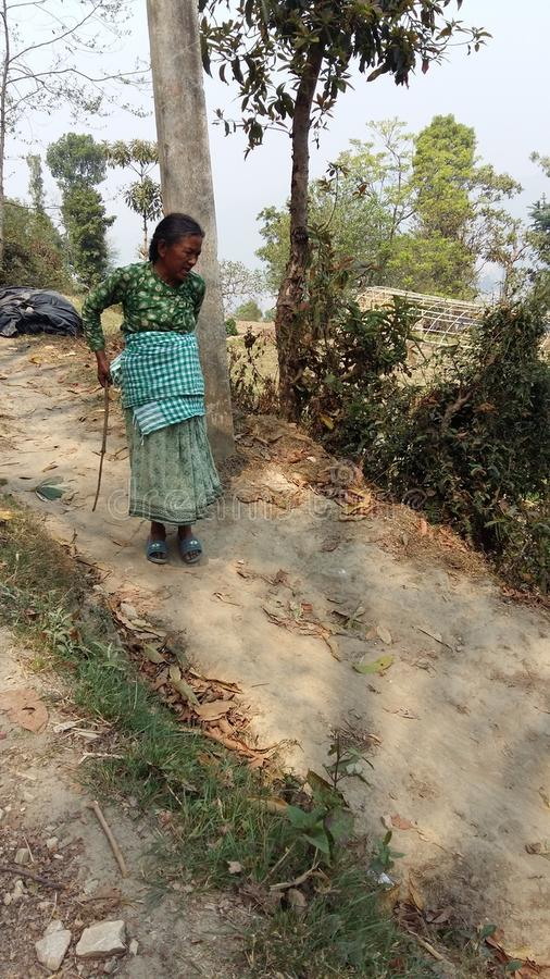 Непальская старуха стоковое изображение
