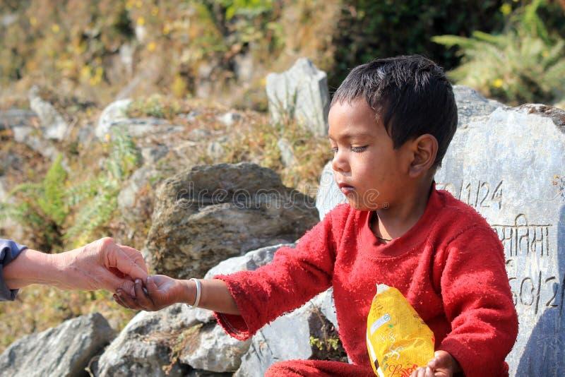 Непальский ребенок стоковые фотографии rf