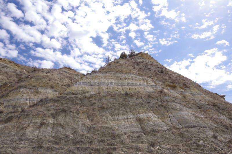 Неплодородные почвы Северной Дакоты стоковые фото