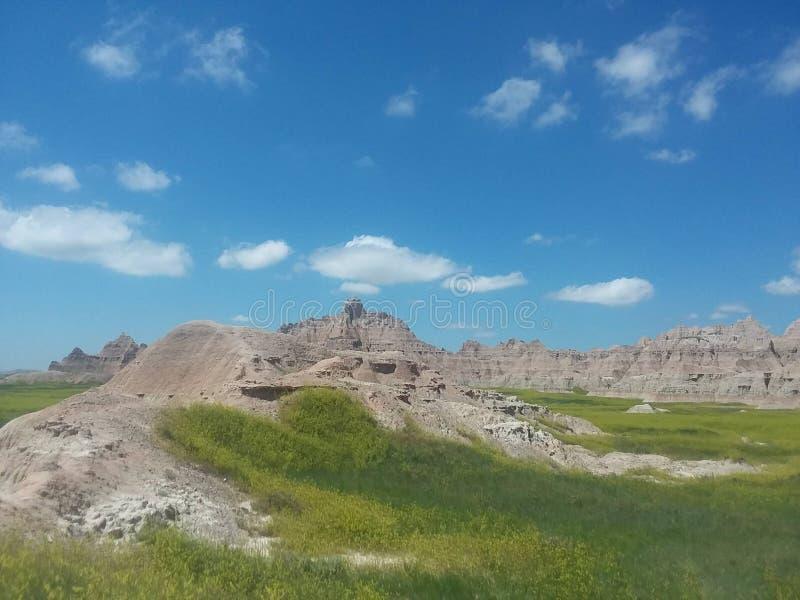 Неплодородные почвы, Южная Дакота стоковая фотография rf
