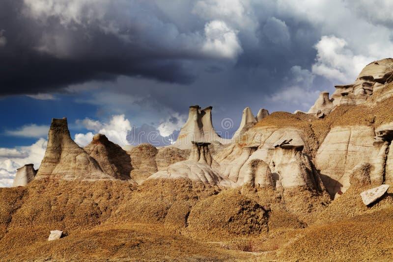 Неплодородные почвы Bisti, Неш-Мексико, США стоковые изображения rf