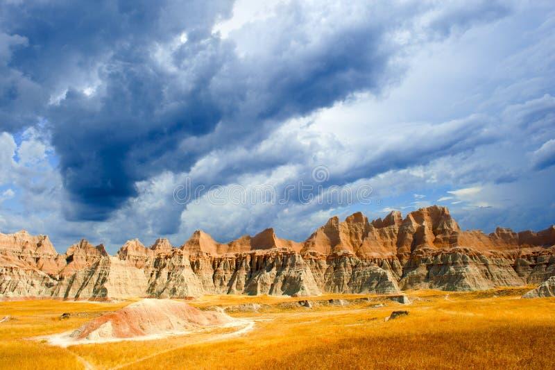 Неплодородные почвы South Dakota стоковая фотография