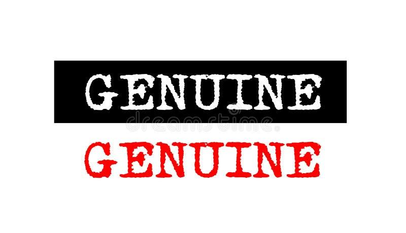 неподдельный значок избитой фразы с дизайном логотипа текста машинки установленным иллюстрация вектора