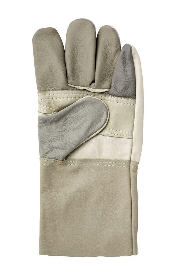 Неподдельная кожаная перчатка стоковая фотография rf