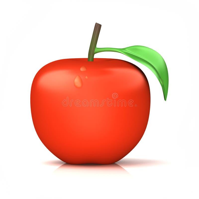 Неполная вырубка красного яблока стоковое изображение rf