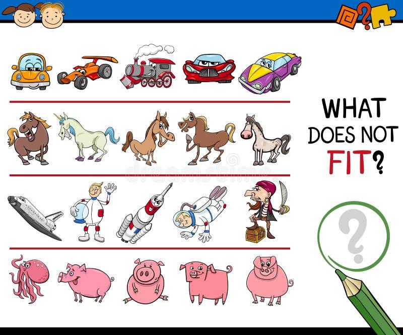 Неправильная задача изображения для детей иллюстрация штока