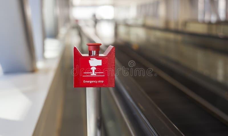 Непредвиденная кнопка стоп стоковая фотография