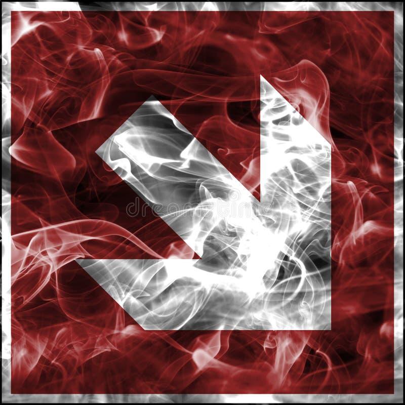 Непредвиденные символы дыма для противопожарного инвентаря Стандартный знак пожарной безопасности для стрелки защиты от огня иллюстрация вектора