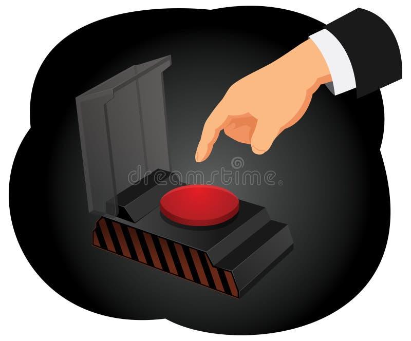 Непредвиденная кнопка бесплатная иллюстрация