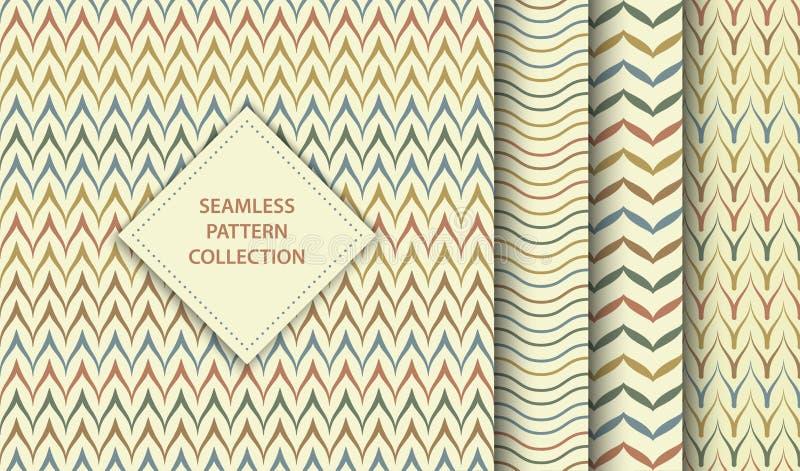 Непрозрачная векторная этническая текстильная модель Абстрактная фоновая геометрическая zag-текстура Простая минималистская печат бесплатная иллюстрация