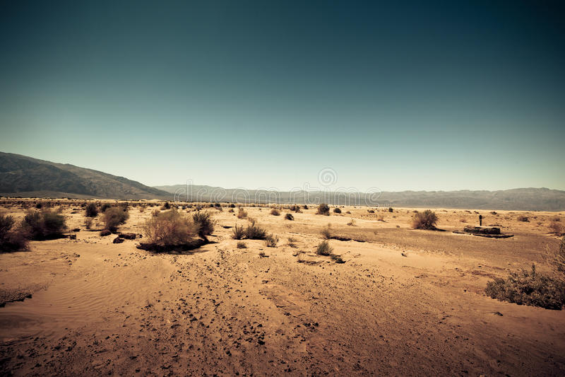 Непроизводительная земля любит Марс стоковое фото rf