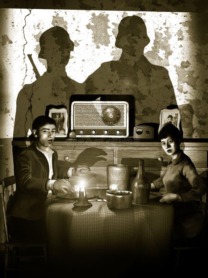 Непрошеные гости бесплатная иллюстрация