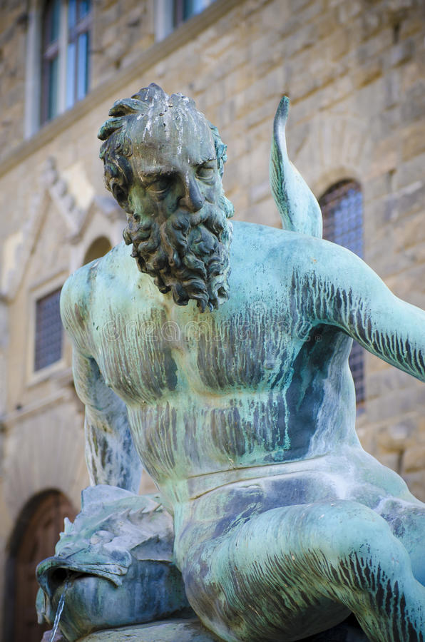 Нептун в Флоренсе, Италии стоковые изображения