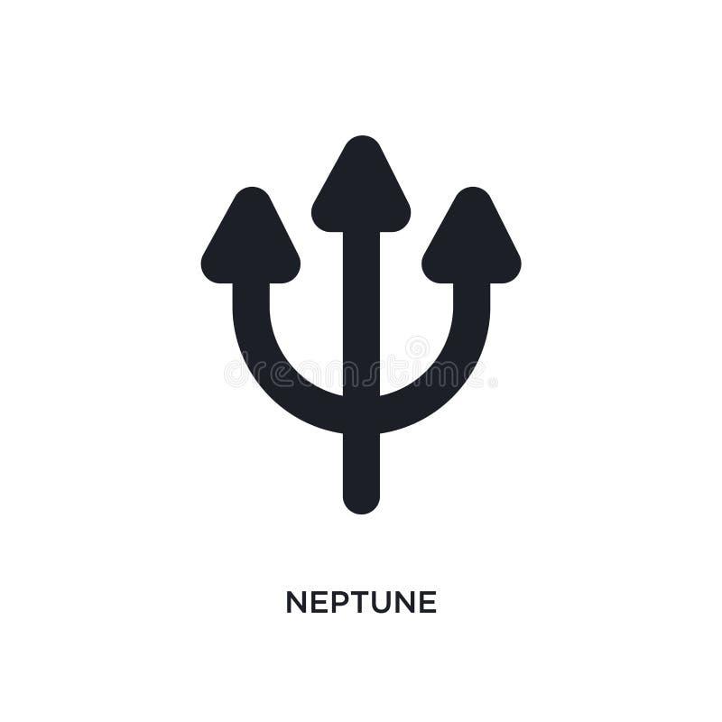 Нептун изолировал значок простая иллюстрация элемента от значков концепции зодиака дизайн символа знака логотипа Нептуна editable иллюстрация вектора