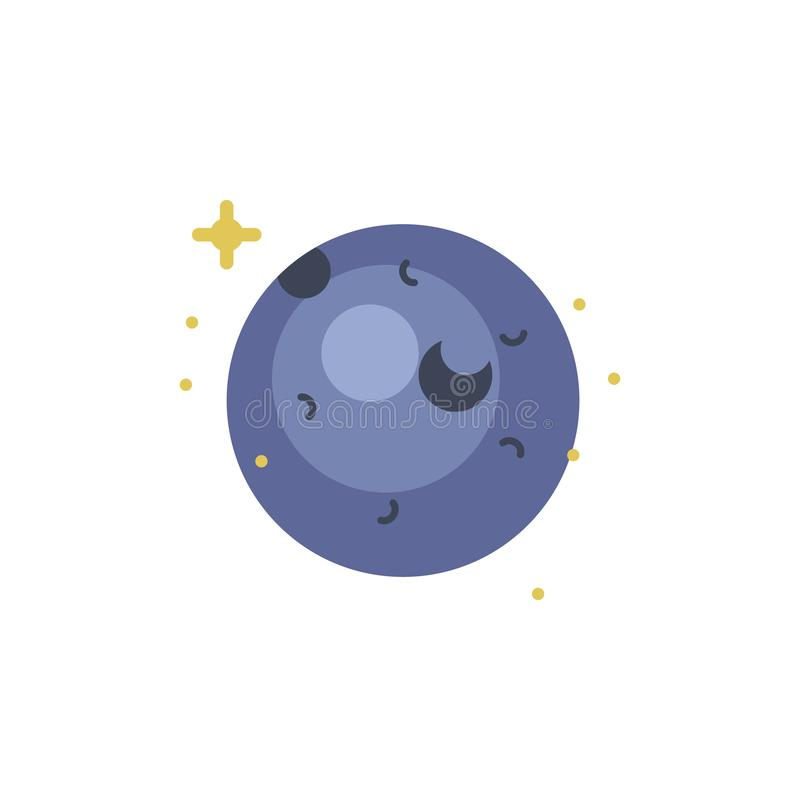 Нептун покрасил значок Элемент иллюстрации космоса Знаки и значок символов можно использовать для сети, логотипа, мобильного прил иллюстрация штока