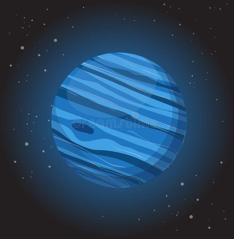 Нептун иллюстрация вектора
