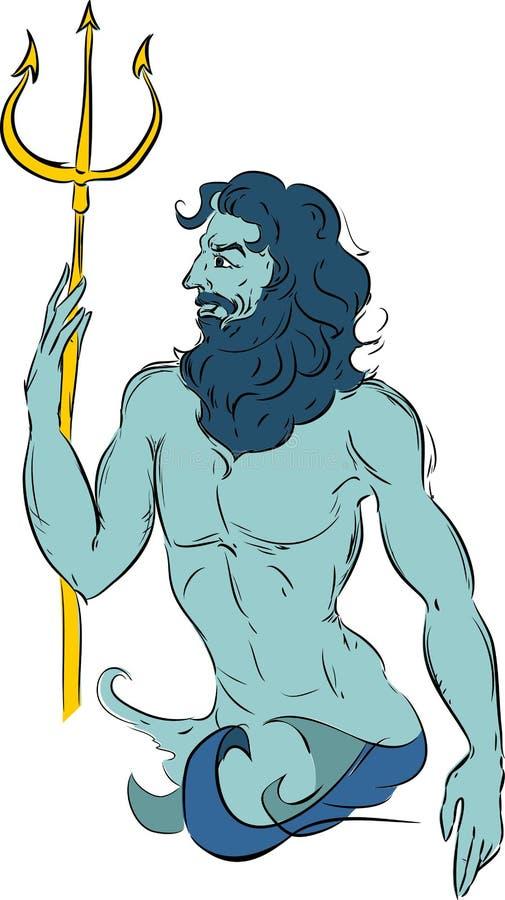 Нептун иллюстрация штока