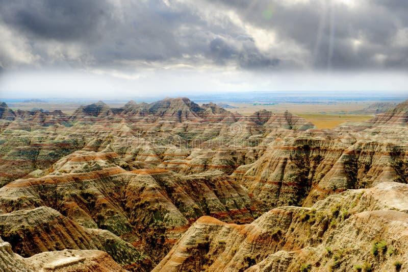 Неплодородные почвы Южная Дакота стоковые фотографии rf