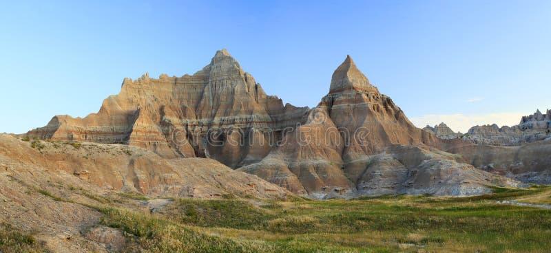 Неплодородные почвы Южной Дакоты на восходе солнца стоковые фото