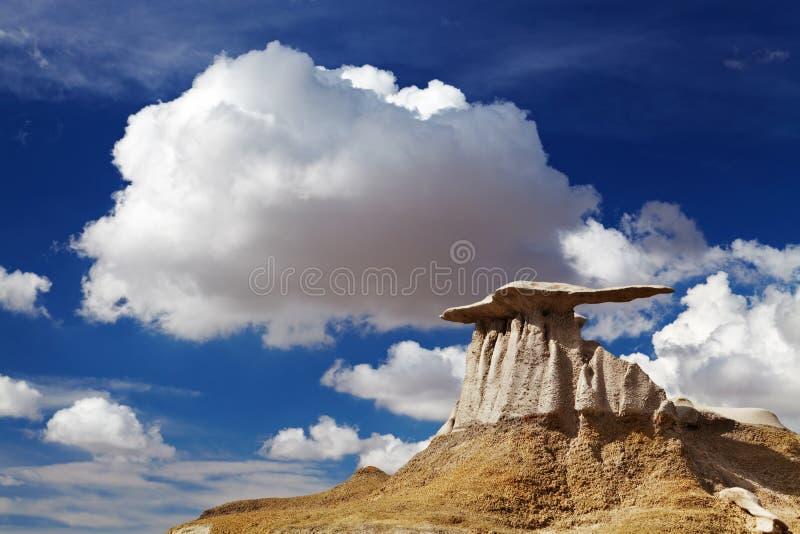 Неплодородные почвы Bisti, Неш-Мексико, США стоковые фото