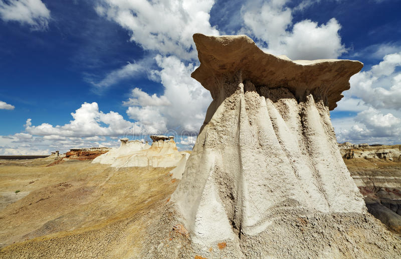 Неплодородные почвы Bisti, Неш-Мексико, США стоковое фото