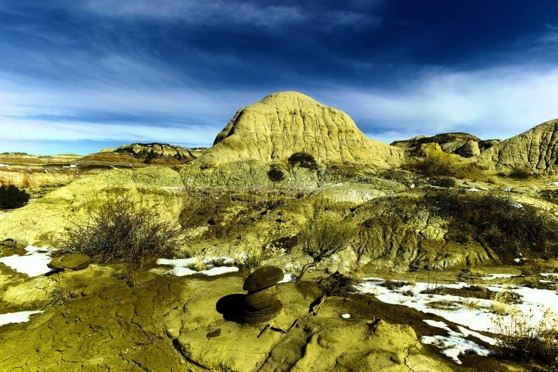 Неплодородные почвы Bisti стоковая фотография
