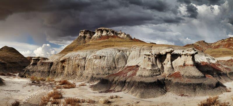 Неплодородные почвы Bisti стоковые изображения
