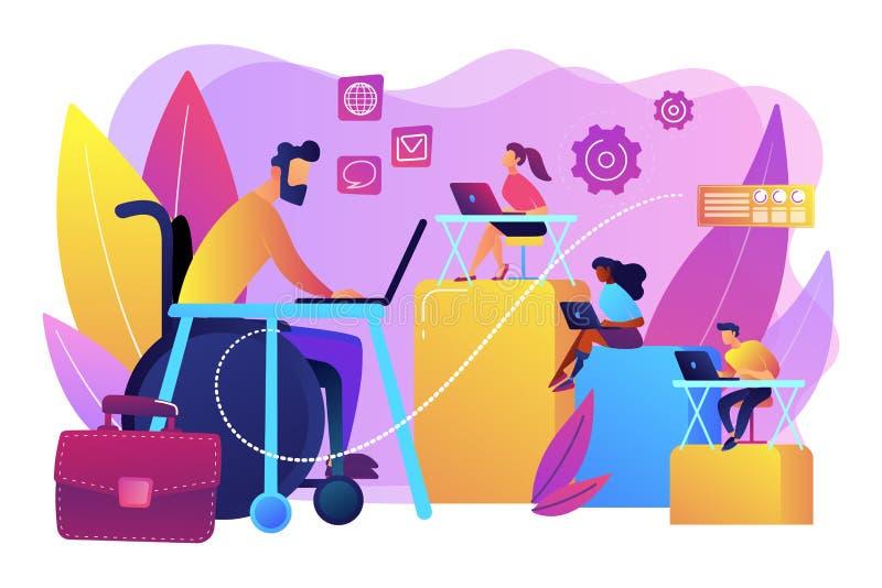 Неработающая иллюстрация вектора концепции занятости бесплатная иллюстрация