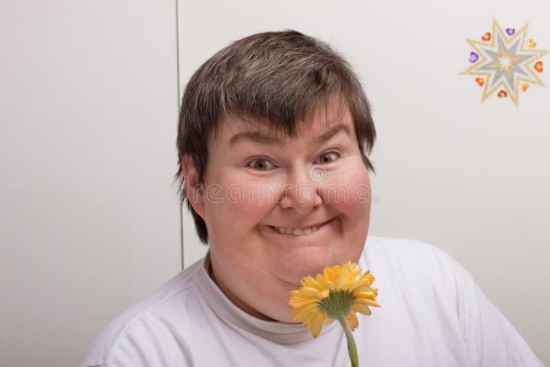 неработающая цветка женщина умственно стоковые изображения rf