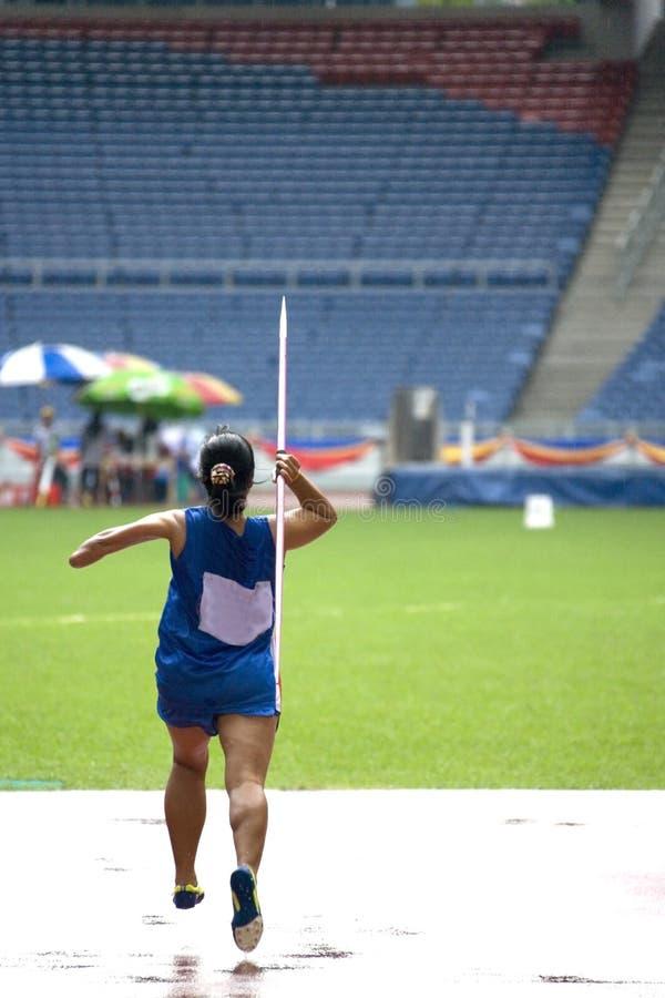 неработающие женщины хода людей s javelin стоковая фотография