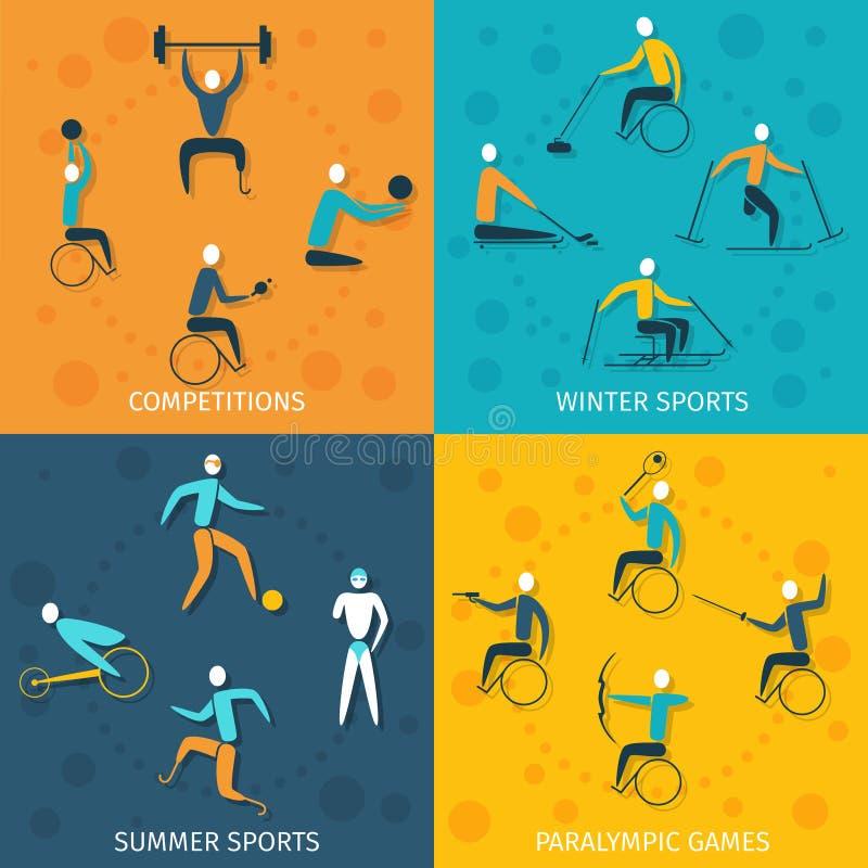 Неработающие установленные спорт иллюстрация штока