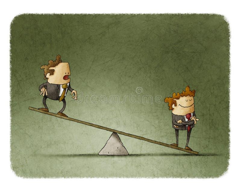 неравенство дела корпоративное иллюстрация вектора