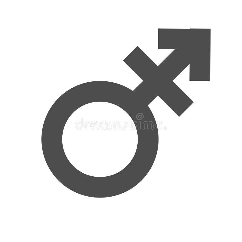 Неравенство рода и символ значка равности Мужской женский значок трансгендерного человека женщины мальчика девушки Символ вектора бесплатная иллюстрация