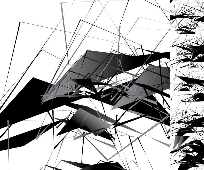 Download Нервная Monochrome иллюстрация с геометрическими формами Абстрактное Geo Иллюстрация вектора - иллюстрации насчитывающей части, несимметричной: 81804810