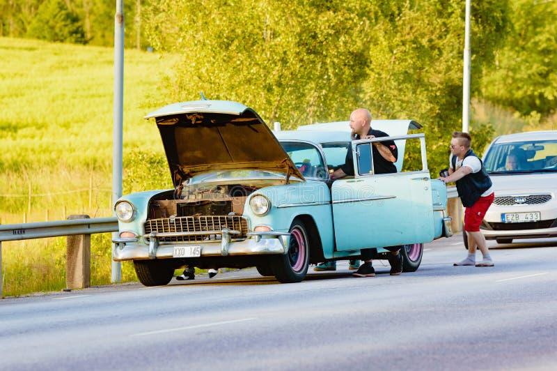 Нервное расстройство и хаос автомобиля стоковое изображение