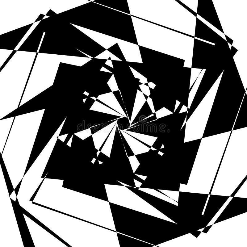 Download Нервный геометрический элемент, случайная форма Абстрактное Monochrome Illust Иллюстрация вектора - иллюстрации насчитывающей деформация, заострённый: 81807899
