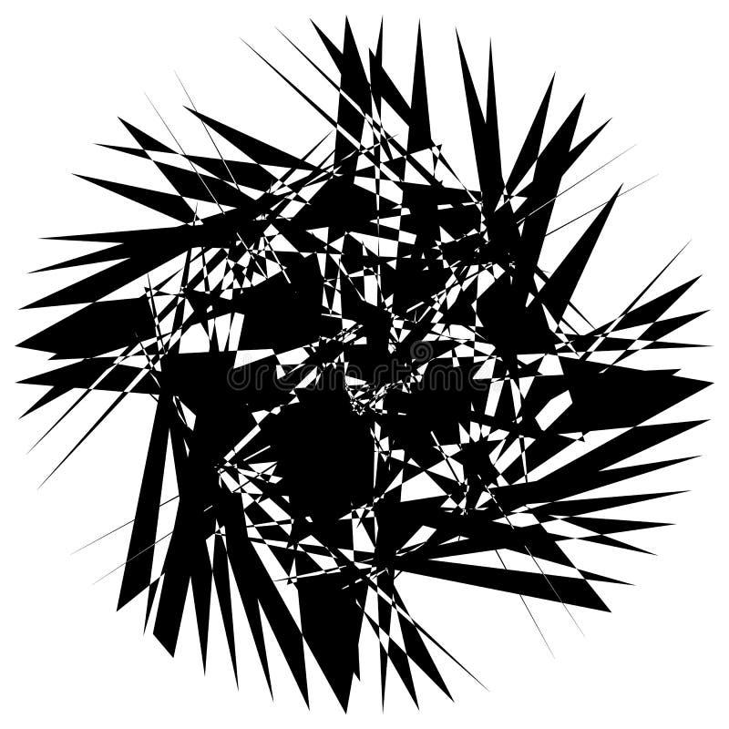 Download Нервный геометрический элемент, случайная форма Абстрактное Monochrome Illust Иллюстрация вектора - иллюстрации насчитывающей грубо, часть: 81809293