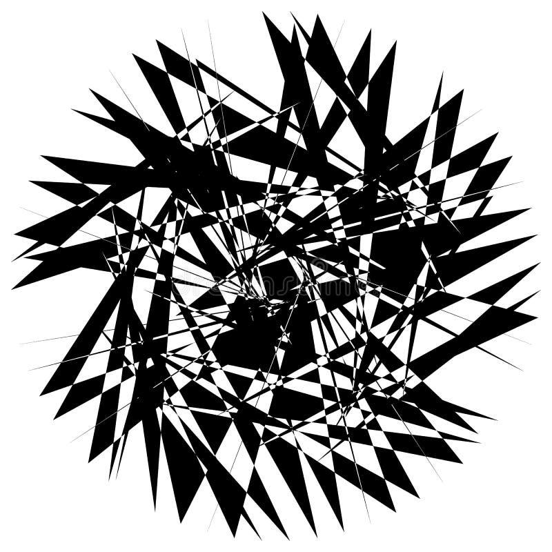 Download Нервный геометрический элемент, случайная форма Абстрактное Monochrome Illust Иллюстрация вектора - иллюстрации насчитывающей черный, график: 81809350