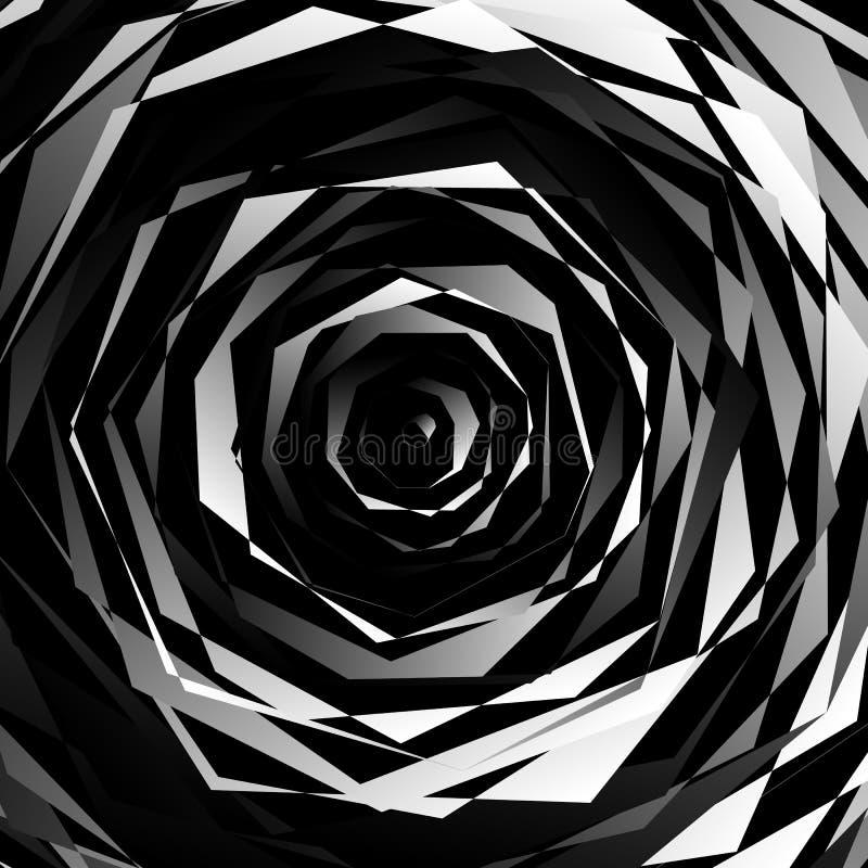 Download Нервный спирально текстурируйте Абстрактная Monochrome, геометрическая картина Иллюстрация вектора - иллюстрации насчитывающей край, объезжать: 81807877