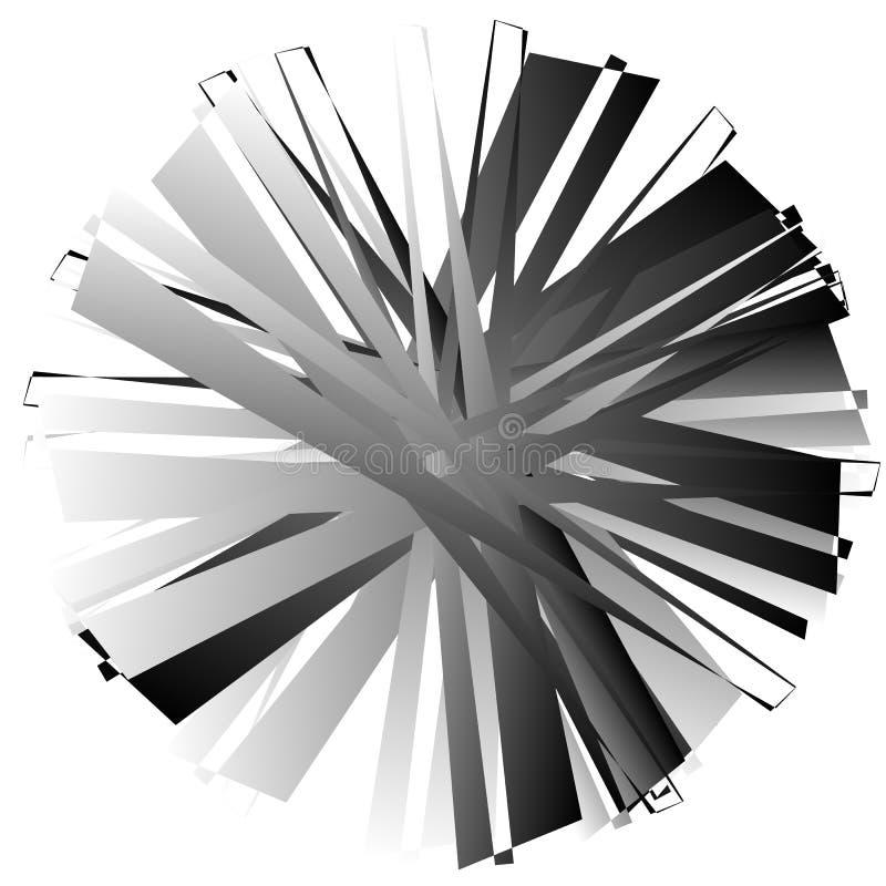 Download Нервный, угловой геометрический элемент Абстрактная круглая форма на Whit Иллюстрация вектора - иллюстрации насчитывающей разносторонне, черный: 81807365