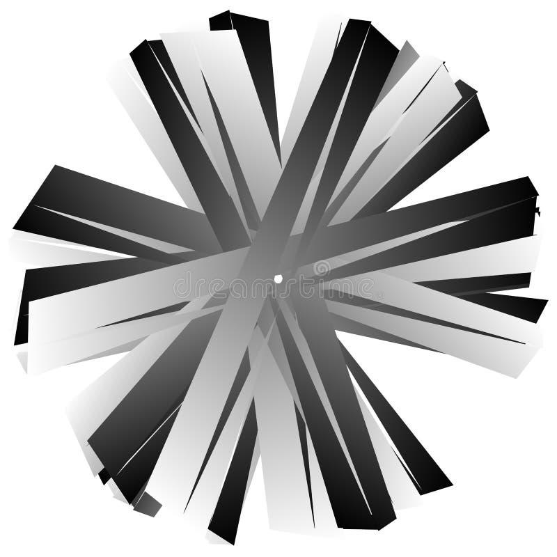Download Нервный, угловой геометрический элемент Абстрактная круглая форма на Whit Иллюстрация вектора - иллюстрации насчитывающей искажение, royalty: 81807734