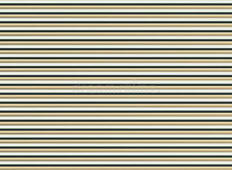 Нервюры бежевой коричневой черной предпосылки контраста предпосылки сияющей горизонтальные основывают динамический яркий дизайн иллюстрация штока