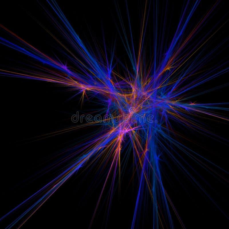 нерв фрактали иллюстрация вектора